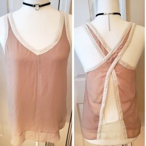 🆕️Anthropologie Silence+Noise Cross back Top Sz M